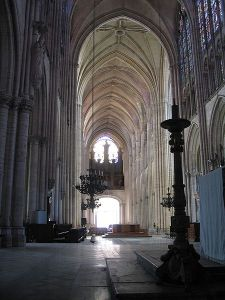 Interior photograph of the Troyes Cathedral