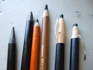 A variety of specialty artists' pencils