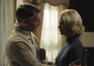 Betty Draper and Henry Francis from the AMC Show Mad Men